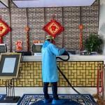 Reception decontamination COVID-19 Wuhan China Blue Evolutions drysteam