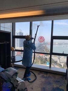 Blue Evolution Dry Steam window clean coronavirus covid19 China