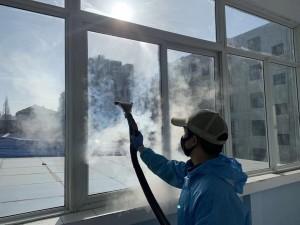 Sanitise hospital Wuhan China Coronavirus Blue Evolution Dry Steam